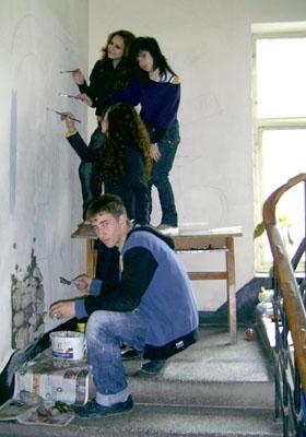 Деца рисуват в \