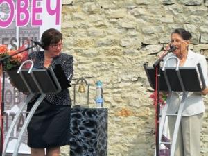 Диана Йоргова (вдясно) отказа почетните знаци