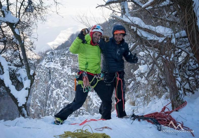 Алпинистите Мартин Маровски (вляво)  и Станислав Атанасов
